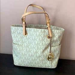 Michael Kors Bags | Michael Kors Medium Tote Bag With Inside Zip | Color: Tan | Size: Medium Tote