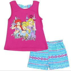 Disney Matching Sets   Disney Princess Girls 2pc Short Set   Color: Blue/Pink   Size: Various