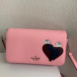 Kate Spade Bags | Nwt Kate Spade Love Birds Small Flap Crossbody | Color: Blue/Pink | Size: Os
