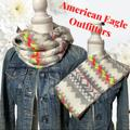 American Eagle Outfitters Accessories | American Eagle - Infinity Scarf Neon Colors Warm | Color: Pink/White | Size: Os