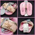 Disney Shoes | Disney Princess Pink Little Girls Sandal Flip Flop | Color: Gold/Pink | Size: 78