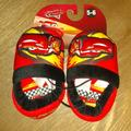 Disney Shoes | Nwt Boy'S Disney Pixar Cars House Shoes | Color: Red | Size: 56 Toddler Boys Car'S House Slippers