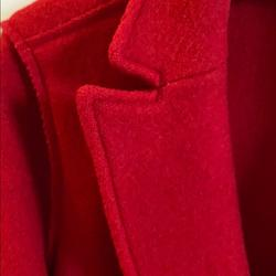 J. Crew Jackets & Coats | J Crew Wool Coat Red Daphne | Color: Red | Size: 4p