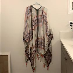 Free People Accessories   Free People Wrap   Color: Orange/White   Size: Os