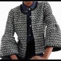 J. Crew Jackets & Coats | J. Crew Belle Sequin Tweed Jacket. | Color: Black/White | Size: 8