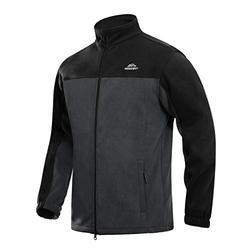 Windproof Jacket Men Lightweight Polar Fleece Jacket Winter Coats Outwear Full Zip Jacket Hiking Jacket Men Fall Windbreaker Jackets Men