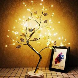 20'' Tabletop Bonsai Tree Light with 72 LED Lights-USB/Battery Touch Switch, Fairy Spirit Light Tree Celtic Serenity, Artificial Lighted Tree Lamp for Living Room Home Decorations, Home Decor Gifts
