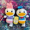 Disney Toys   Disney Itty Bittys Donald Duck & Daisy Duck Plush   Color: Blue/Pink   Size: One Size