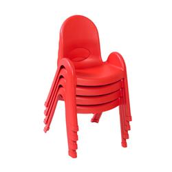 """""""Value Stack 9"""""""" Child Chair - 4 Pack - Candy Apple Red - Children's Factory AB7709PR4"""""""