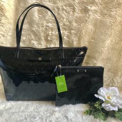 Kate Spade Bags   Kate Spade Bag And Kate Spade Makeup Bag   Color: Black   Size: Large Bag And Small Makeup Bag