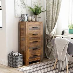 "Birch Lane™ Keagan Accent Chest 5 Drawer Lingerie Chest/Semainier, Wood in Brown, Size 45""H X 23""W X 15""D | Wayfair"