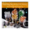 YSHG Gold, Silver And Copper Irregular Aluminum Foil Paper Nail Stickers (Color : 3 Gold Silver Copper)