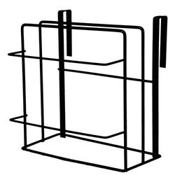 YERZ Cutting Board Rack Holder, Chopping Board Organizer Stand, Kitchen Pot Pan Lids Rack Organizer, Towel Holder, Pot Lid Organizer(Black)