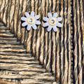 Coach Jewelry   Coach Enameled Flower Dangle Earrings   Color: Gold/Purple   Size: Os