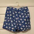 J. Crew Shorts | Nwt! J. Crew Blue Floral Shorts (4) | Color: Blue/White | Size: 4