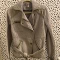Free People Jackets & Coats | Free People Quilted Moto Jacket | Color: Gray | Size: Xs