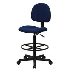 Mid-Back Artist Drafting Chair Pneumatic Swivel Seat Sturdy Adjustable Height Modern Office High Task Desk Chair Armless Footrest Wheel Casters
