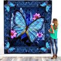 03 Butterfly Quilt, Gift for Your Lovers Quilt Patterns All-Season Quilts Comforters with Cotton - King Queen Twin Size Beach Trips, Gifts Quilt