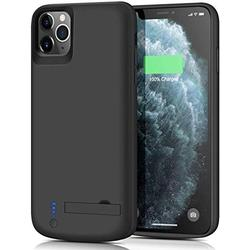 Battery Case Compatible with iPhone 11 Pro Support Lightning Headphone - [5000mAh], Portable Case Extended Battery Charging Case for iPhone 11 Pro, Rechargeable Backup Power Bank Case - Black
