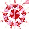 Boao 24 Pieces Valentine's Day Hanging Felt Heart Ornaments Red and Pink Heart Shape Cutouts Hollow Out Heart Ornaments with Cord for Valentine's Day Wedding Favors