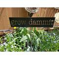 NOT BRANDED 10x44cm, Grow Dammit Metal Garden Stake Funny Garden Stake Sign Distressed Rusted Metal Sign Farmhouse Decor Garden Humor Garden Marker Gardener Gift 862595