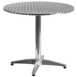 """Flash Furniture TLH-052-3-GG 31 1/2"""" Round Indoor/Outdoor Bistro Table - 27 1/2""""H, Aluminum Base/Stainless Top"""
