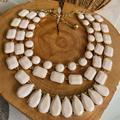 Kate Spade Jewelry | Euc Katespade Cream Gold Tri-Layered Necklace | Color: Cream/Gold | Size: Os