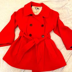 J. Crew Jackets & Coats | Jcrew Red Belted Pea Coat Size 6 | Color: Red | Size: 6