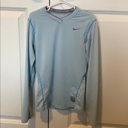 Nike Shirts & Tops | Nike Pro Top. Size Medium. Light Blue | Color: Blue | Size: Mg