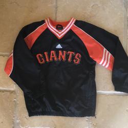 Adidas Shirts & Tops | Adidas San Francisco Giants Windbreaker | Color: Black/Orange | Size: 8b