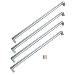 """Bertazzoni PROHK36FD Professional Series Handle Kit for 36"""" French Door Refrigerator Stainless Steel"""