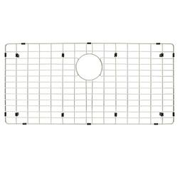 """Kitchen Sink Grid and Sink Protectors for Kitchen Sink, Stainless Steel Sink Grid Size 32 11/16"""" X 15 7/16"""" with Rear Drain for Single Sink Bowl,Sink Bottom Grid"""