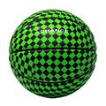 """Chance Premium Rubber Outdoor / Indoor Basketball (Size 5 Kids & Youth, 6 Women's Official, 7 Men's Official) (Size 27.5, 28.5, 29.5) (5 Kids & Youth - 27.5"""", Spade - Green & Black)"""