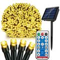 Upgrade Solar Powered Lights String for Outdoor Garden Solar Panel String Lights 39ft 100Leds with Timer Remote Control 6W 8 Mode Solar Outside String Light Waterproof Solar Operated Twinkle Lights