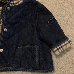 Burberry Jackets & Coats | Burberry Jeans Jacket | Color: Blue | Size: 6-9mb