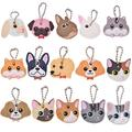 KOZOREN 16PCS Cute Dog Cat Puppy Pug PVC Key Cover Cap Key Chain Keyring Rabbit Gift