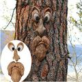 FILOL Easter Tree Faces Decor Garden Decorations Outdoor Funny Old Man Tree Sculpture Yard Art Decoration Garden Peeker Tree Face Backyard Decor Bark Face Tree Monster (A)