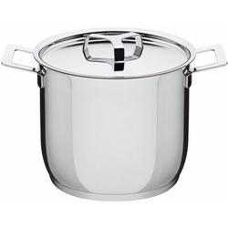 Alessi Pots & Pans Stock Pot by Jasper Morrison Stock pot w/ LidStainless Steel in Gray, Size 6.7 H x 7.9 W in   Wayfair AJM100/20