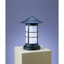 Arroyo Craftsman Newport Outdoor 1-Light Pier Mount Light in Black, Size 13.25 H x 9.25 W in | Wayfair NC-9LTN-BK