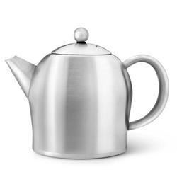 Gefu by Unimet Santhee Stainless Steel Teapot Stainless Steel/Aluminum in Gray, Size 5.7 H x 6.7 W x 8.9 D in | Wayfair B-3306MS
