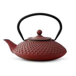 Gefu by Unimet Xilin 5.3 Cup Cast Iron Teapot Cast Iron in Red, Size 6.5 H x 8.0 W x 9.5 D in | Wayfair B-G002R