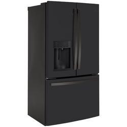 "GE Appliances GE 36"" Counter Depth French Door 22.1 cu. ft. Smart Energy Star Refrigerator w/ Fingerprint Resistant Finish in Black   Wayfair"