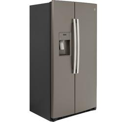 """GE Appliances 36"""" Energy Star Counter Depth Side by Side 21.8 cu. ft. Fingerprint Resistant Refrigerator in Gray, Size 69.5 H x 42.25 W x 30.75 D in"""