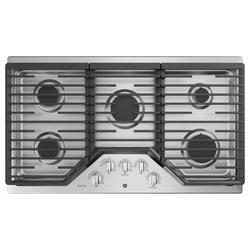 """GE Profile™ Built-in 36"""" Gas Cooktop w/ 5 Burners in Gray, Size 5.5 H x 21.0 W x 36.0 D in   Wayfair PGP7036SLSS"""