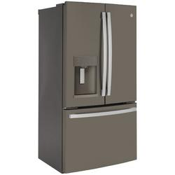 "GE Appliances GE 36"" Counter Depth French Door 22.1 cu. ft. Smart Energy Star Refrigerator w/ Fingerprint Resistant Finish in Gray | Wayfair"