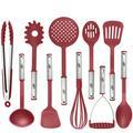 KALUNS 10-Piece Assorted Kitchen Utensil Set Nylon/Stainless Steel in Red | Wayfair K-CUS10R