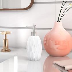 Wade Logan® Meriden Lotion DispenserResin in White, Size 7.6 H x 3.2 W x 3.2 D in | Wayfair 865E67205FBB4234A7EFCBADBA6E9CB4