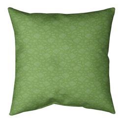 ArtVerse Katelyn Elizabeth Pizza Square Pillow Cover & InsertLeather/Suede in Green, Size 26.0 H x 26.0 W x 2.0 D in | Wayfair ELI630-SXPG6GC