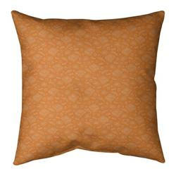 "ArtVerse Katelyn Elizabeth Pizza Square Pillow Cover & Insert, Fill Material: Poly Fill, Polyester/Polyfill/Leather/Suede in Brown, Size 26"" x 26"""