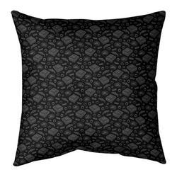ArtVerse Katelyn Elizabeth Pizza Square Pillow Cover & InsertLeather/Suede in Black, Size 26.0 H x 26.0 W x 2.0 D in   Wayfair ELI626-SXPG6GC